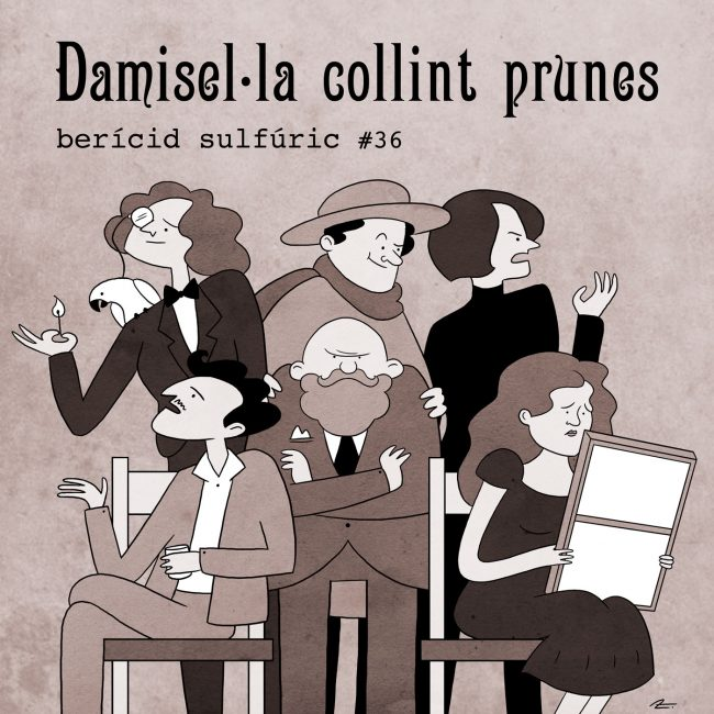 36 – Damisel·la collint prunes